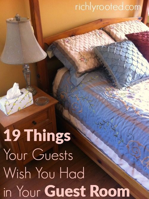 Spruce up your guest room and ensure it has everything your guests might want during their stay! Here are 19 things every guest room needs.