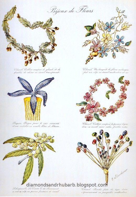 """la_gatta_ciara: Бижутерия фирмы """"Gripoix"""". Стеклянные цветы для Кокто и Шанель."""