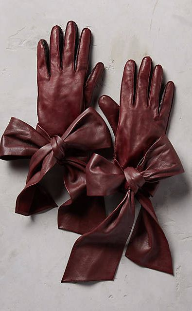 Streaming Bow Leather Gloves #anthrofave
