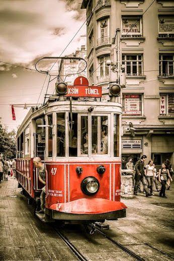 Old tram Istiklal Caddesi, Istanbul, Turkey Google+