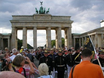 """Germany Berlin. The famous """"Brandenburger Tor"""". Listen and download the German National Anthem in a rock-version, arranged by Bert Hilby."""