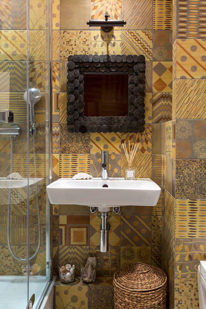 Дизайн небольшой ванной: как использовать пространство и 80+ функционально продуманных интерьеров http://happymodern.ru/dizajn-vannoj-komnaty-3-kv-m-foto-2/ В ванной комнате 3 кв. м. умывальник должен быть компактным