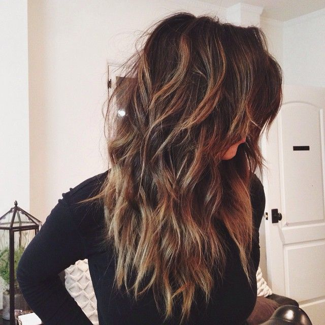 Super-Chunky Layers for Long Wavy Medium-Brown Hair