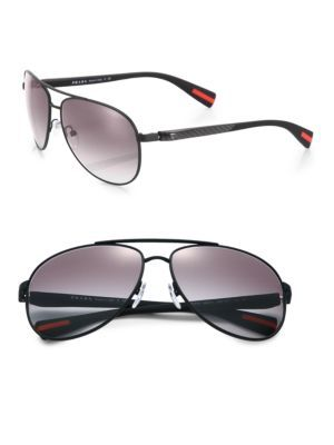 PRADA 62MM Pilot Sunglasses. #prada #sunglasses