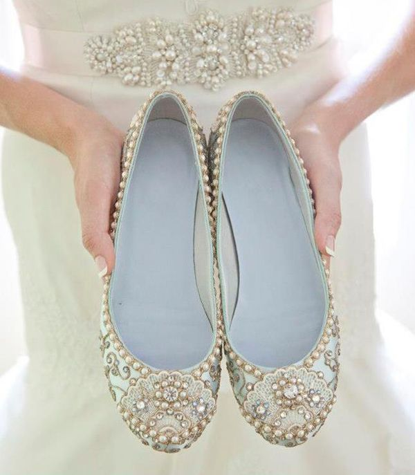 Pretty Bridal Shoes From Beholden