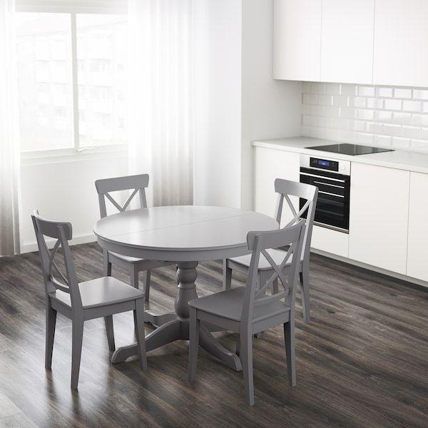 Ingatorp Extendable Table Gray Ikea In 2021 Ausziehtisch Ikea Ingatorp Ikea Esszimmer