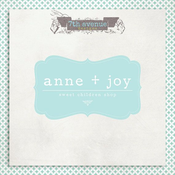 Custom Premade Logo Design  Anne Joy by 7thavenuedesigns on Etsy, $30.00
