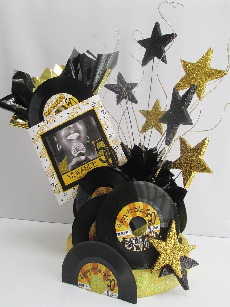 29 Best Images About Motown Themed Centerpieces On Pinterest