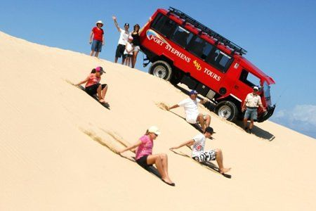 Port Stephens sand boarding