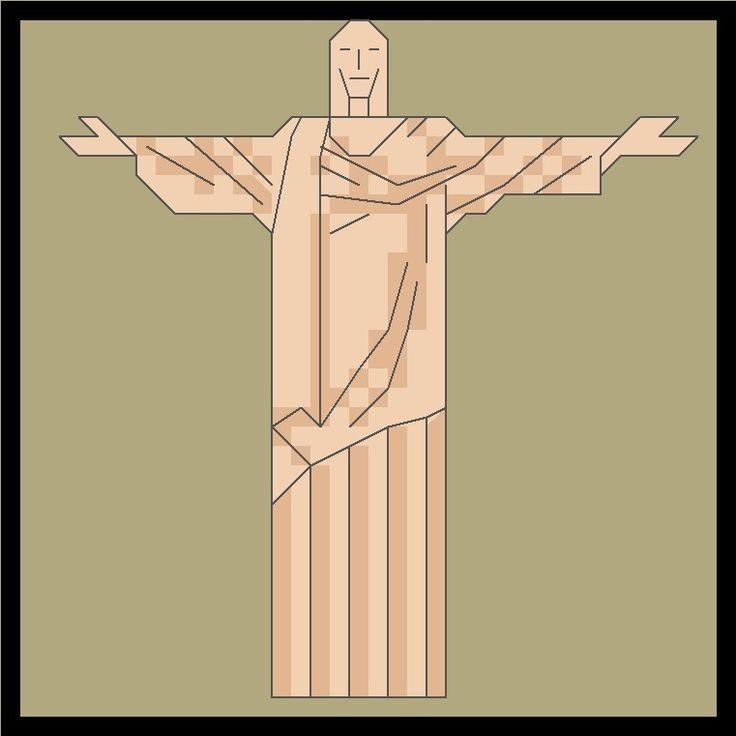 Biscornus du Monde: Le Brésil