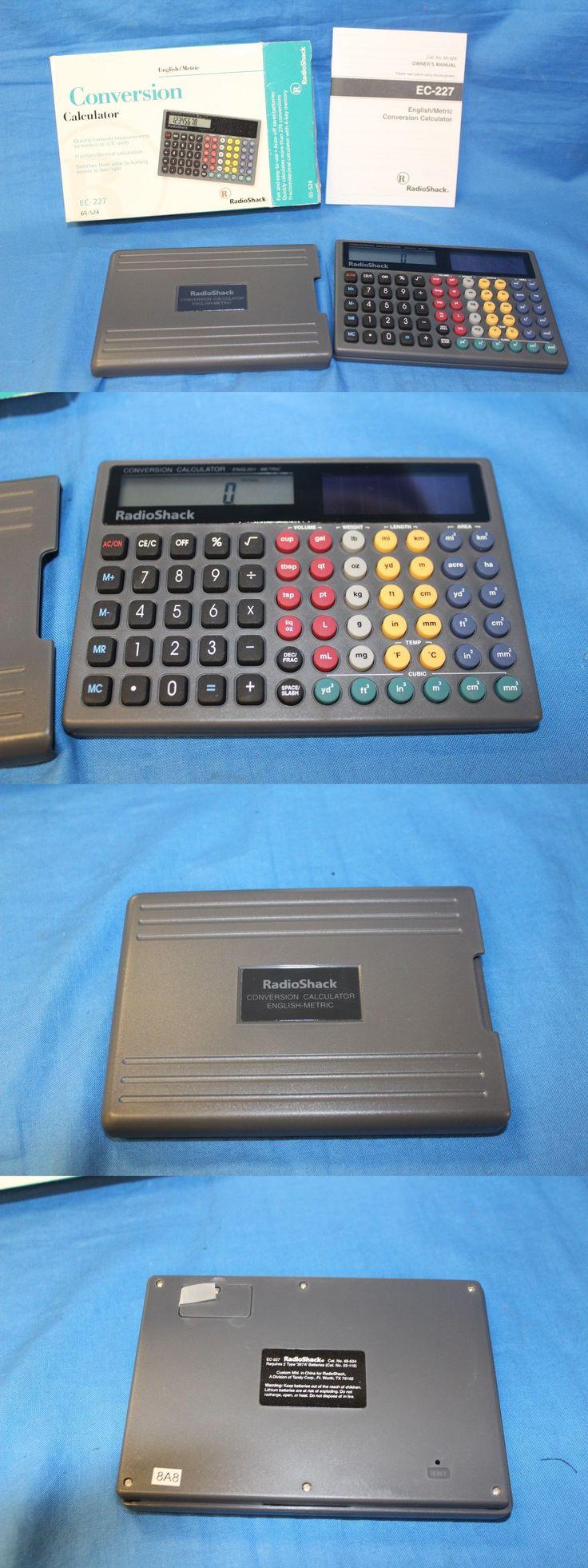 Calculators: Radioshack Metric Conversion Calculator Solar To Battery. English Metric. -> BUY IT NOW ONLY: $39.94 on eBay!