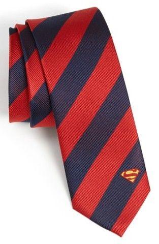 DC Comics Superman Stripe Tie | Nordstrom