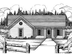 The Farm Valley Country Home has 3 bedrooms and 2 full baths. See amenities for Plan 060D-0003.