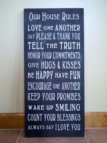 wall decor: Wall Art, Wall Decor, Life Rules, Houserules, Wood Signs, House Rules, Words Art, Houses Rules, Families Rules
