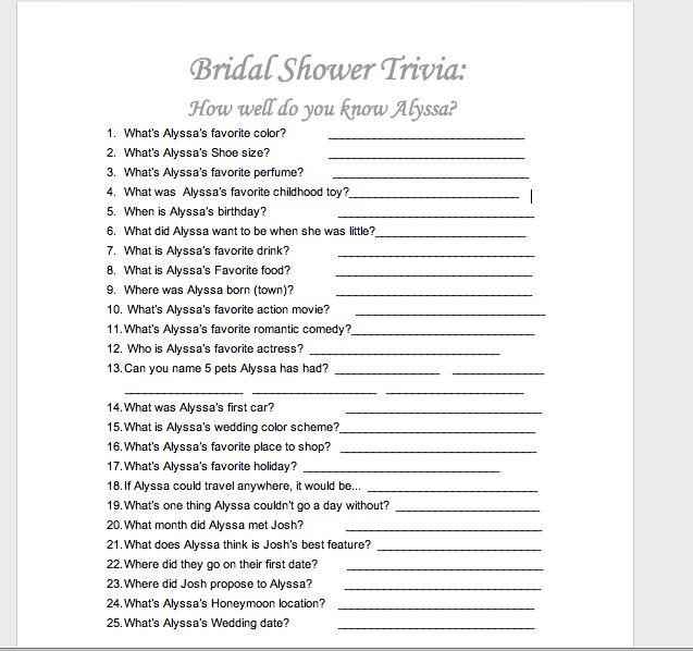 22 Best Images About Bridal Shower Games On Pinterest