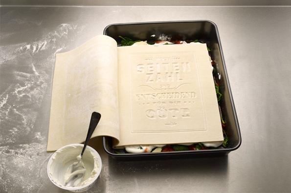 edible cookbook: Lasagna Noodles, Edible Cookbook, Edible Lasagna, Livros Comestível, Book Design, Classic Lasagna, Real Cookbook, Fresh Pasta, Lasagna Cookbook