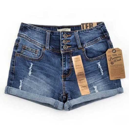 Diamond Denim Shorts