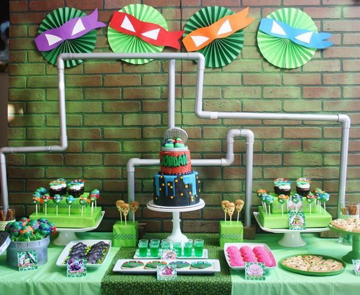 Fiesta temática de las Tortugas Ninja para niño | Ideas para Decoracion