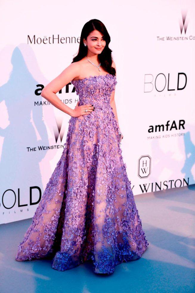Cannes 2015: Aishwarya Rai is a dream in lavender for amfAR gala