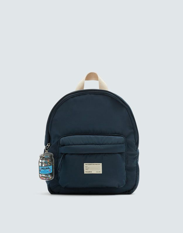 Blue backpack with key ring detail  6bcd777a69c4e
