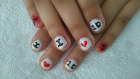One Direction fan nails