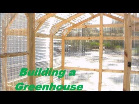 ▶ Building a Greenhouse - DIY greenhouse construction - YouTube - ideas for framing