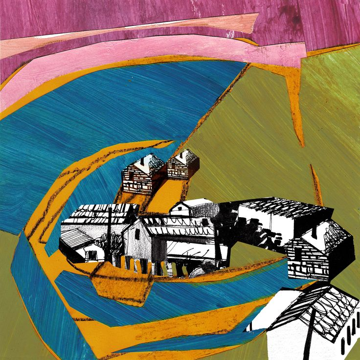 """Collage Landscape #6"" Author: Alina Shagidullina (a creator and owner of HOUZY) @_houzy"