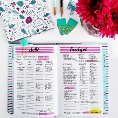 2018 Live Rich Stripes Hardcover Planner in 2018 Business Finances