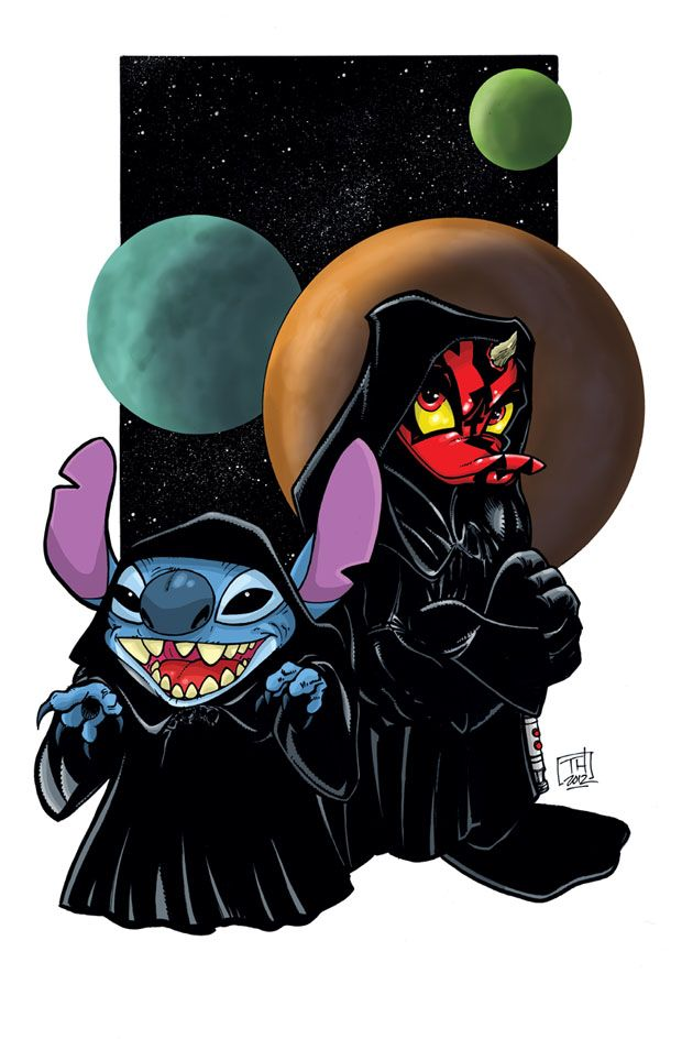 Darth Stitchious and Donald Maul. #starwars