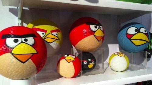 Angry Bird playground kickballs!