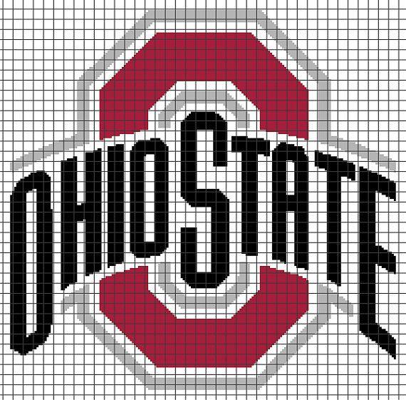 Ohio State Buckeyes Crochet Graphghan Pattern (Chart/Graph