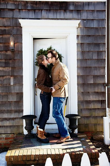 When Erik &I buy our first home, I want a photo like this before we walk into the house for the very fist time