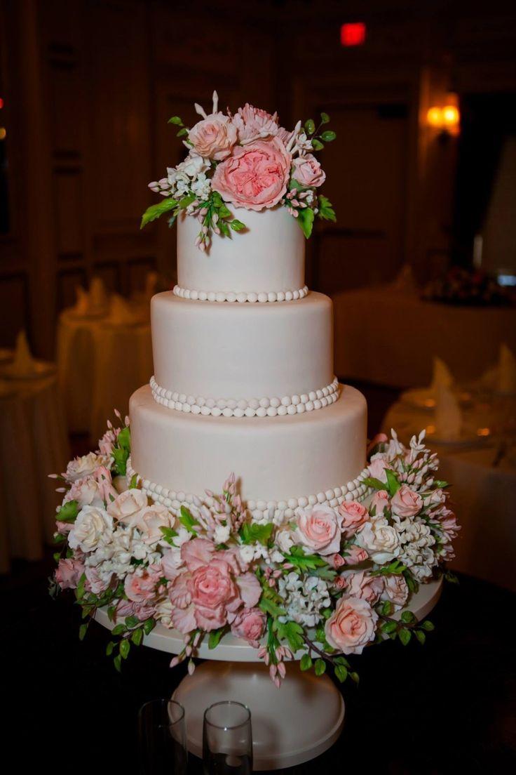Cake by The Mischief Maker | Sugar Flower Wedding Cake #mischiefmakercakes