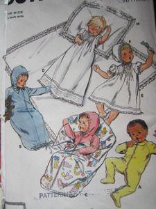 SeeSallySew.com - Christening Layette Baby Christen Vintage Butterick 3317…