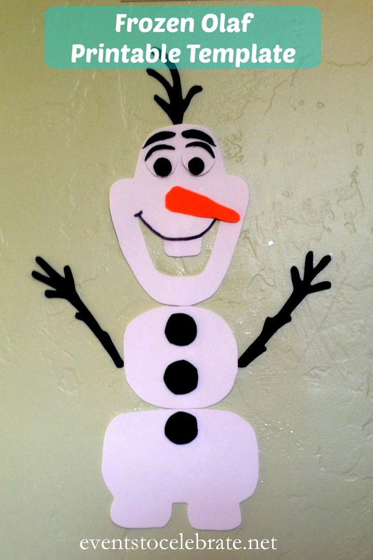 Frozen Olaf Printable Template - eventstocelebrate.net
