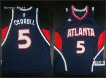 Atlanta Hawks #5 DeMarre Carroll Blue Jersey