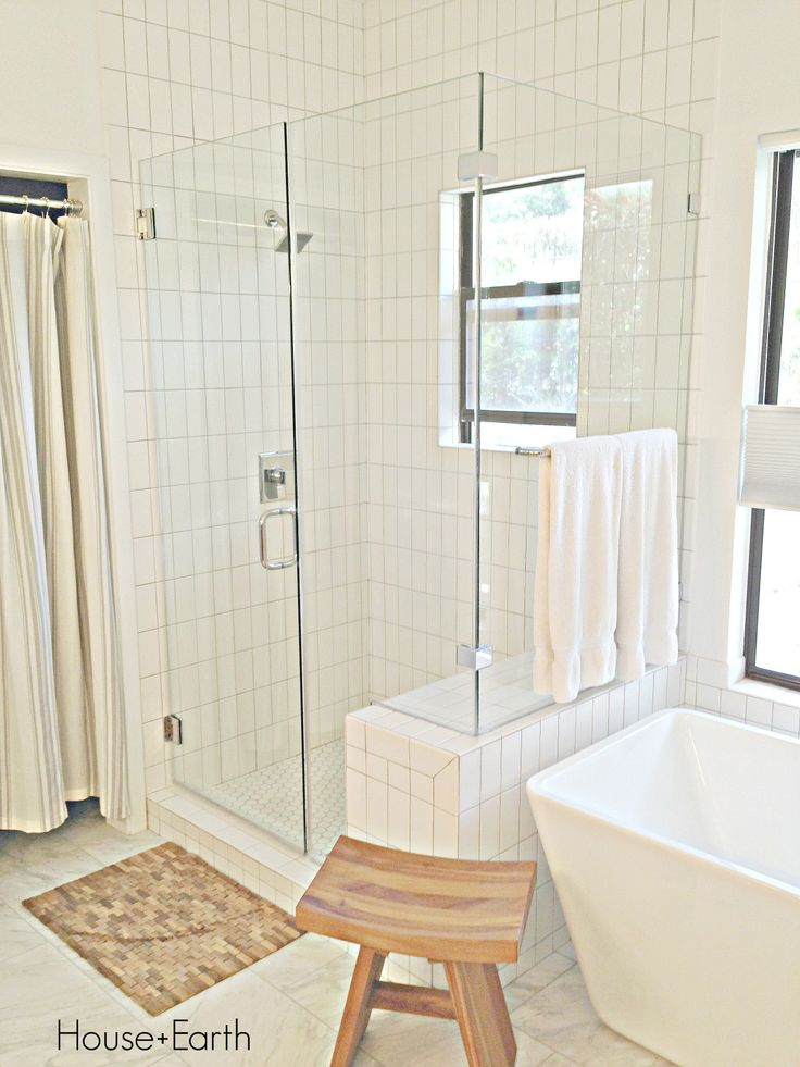 Bathroom Renovation White Subway Tiles On Shower