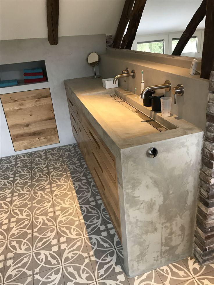 25 beste idee n over betonnen wastafel op pinterest for Pinterest beton