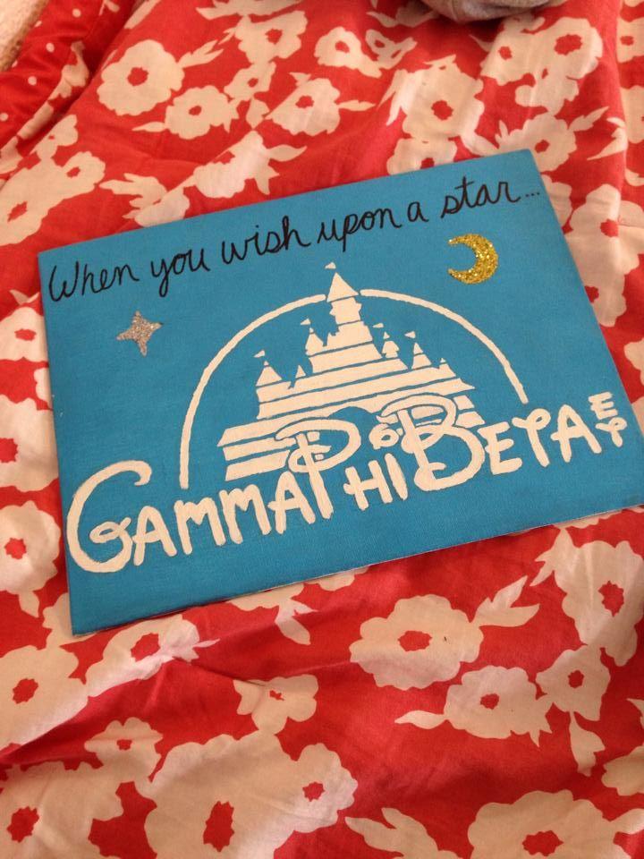 ΓΦΒ craft for the little! gamma phi beta + Disney <3