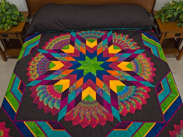 Bertha Quilt -- terrific made with care Amish Quilts from Lancaster (hs5694)