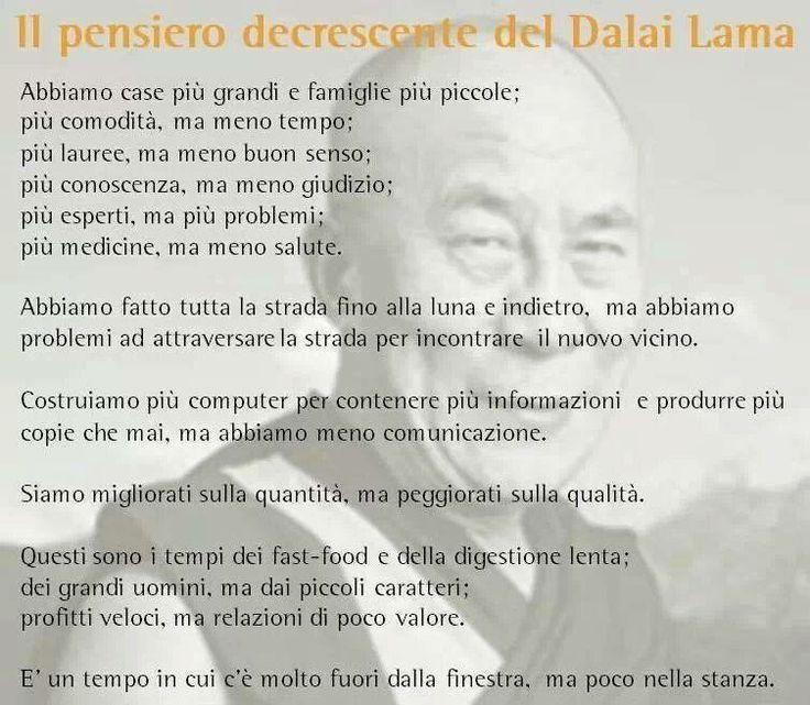 Dalai Lama - Il pensiero decrescente