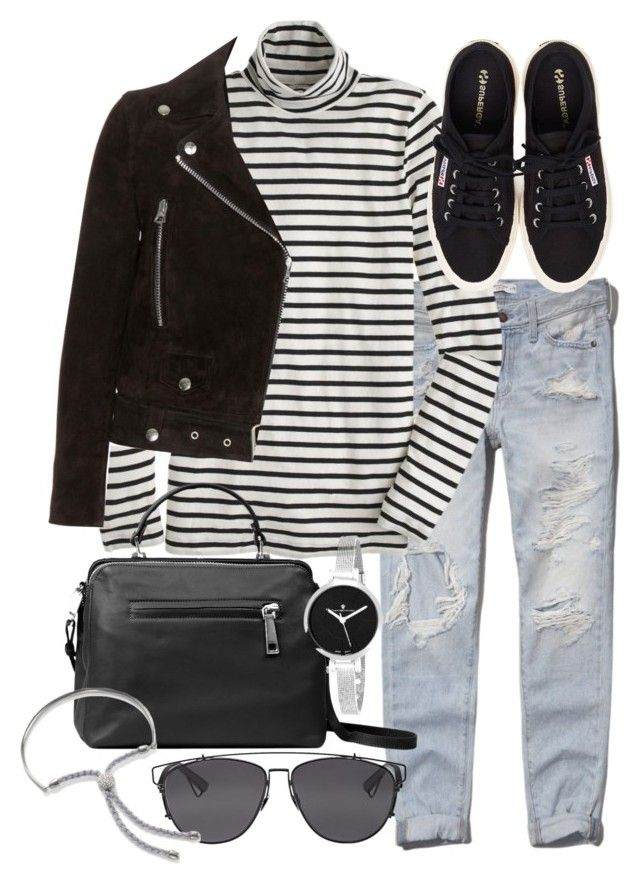 """""""Untitled #18922"""" by florencia95 ❤ liked on Polyvore featuring Abercrombie & Fitch, J.Crew, Acne Studios, Linea Pelle, Christian Van Sant, Henri Bendel, Christian Dior and Monica Vinader"""