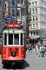 nostalgic #tram in #Istanbul  #vintage #vehicle #transport #travel #leisure