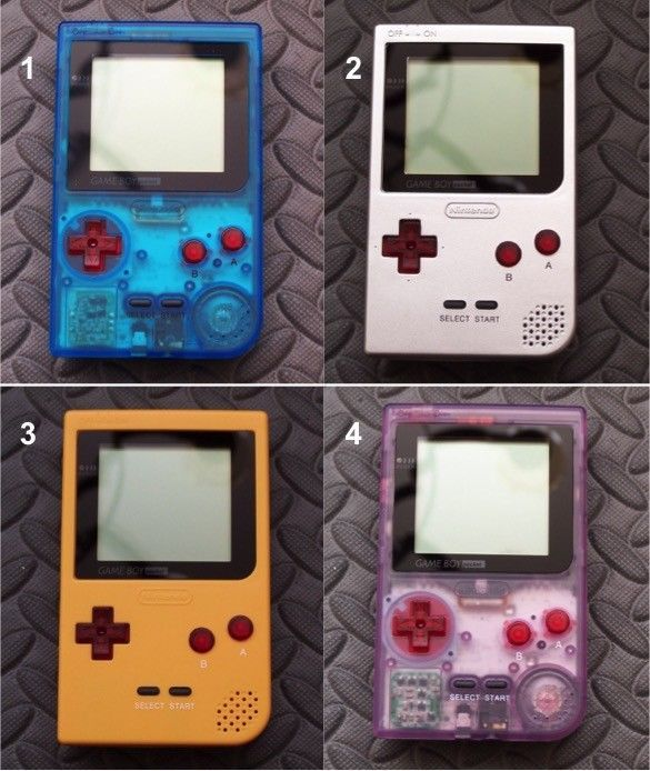 Nintendo GameBoy Pocket System-MGB-001 -Clear Red Buttons