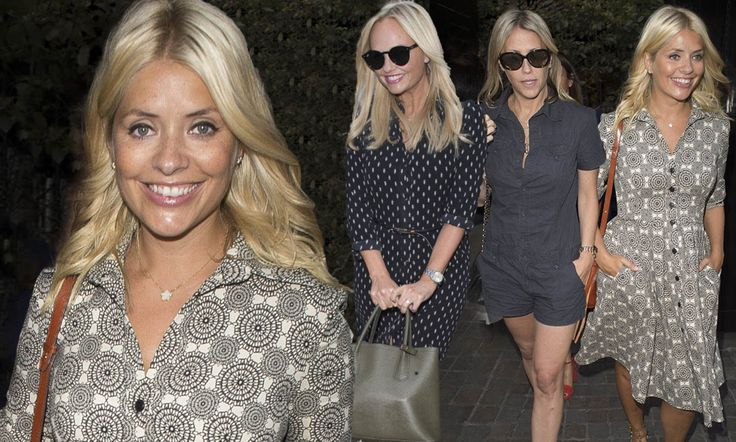 The TV presenter, 35, enjoyed a girls' night out with gal pals Nicole Appleton and Emma Bunton at the swanky Chiltern Firehouse in London's Marylebone on Thursday.