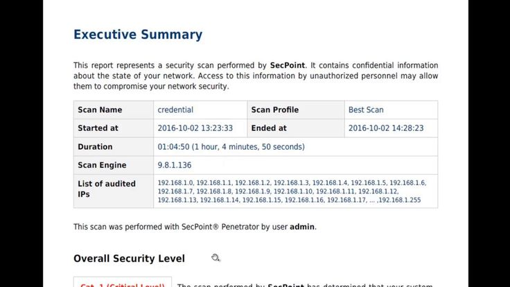 Penetrator V38 Executive Summary Report - https://www.youtube.com/watch?v=jq-VcKqmqKA #penetrator #secpoint #executivesummary #vulnerabilityscanner #vulnscan