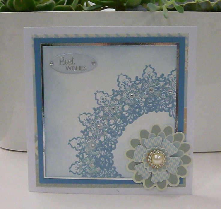 QVC Craft Spring Frost Card, made with 501557 Inkadinkado Stamping Gear Kit, goes on air: 30th January 14:00