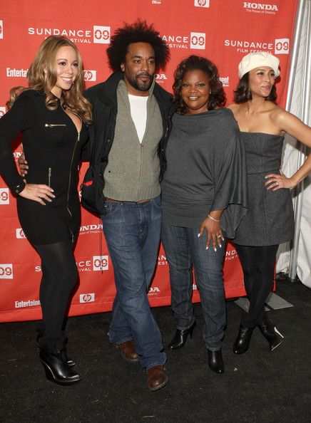 """Mariah Carey Photos - (L-R) Singer/actress Mariah Carey, director Lee Daniels, and actresses Mo'Nique and Paula Patton attend the screening of """"Push: Based On The Novel By Sapphire"""" held at the Racquet Club Theatre during the 2009 Sundance Film Festival on January 16, 2009 in Park City, Utah.  (Photo by Jason Merritt/Getty Images) * Local Caption * Mariah Carey;Lee Daniels;Mo'Nique;Paula Patton - """"Push"""" - 2009 Sundance Premiere"""