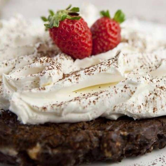 Cheesecake med choklad och nötter - sockerfritt