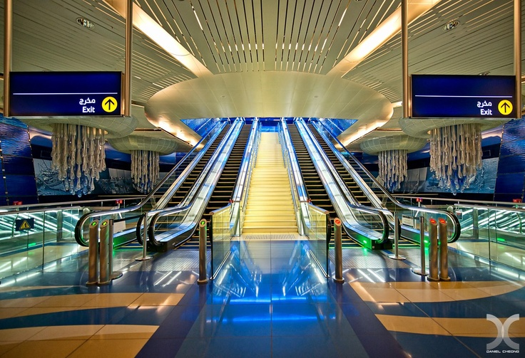Burjman Metro Station, Dubai. Photographer: Daniel Cheong